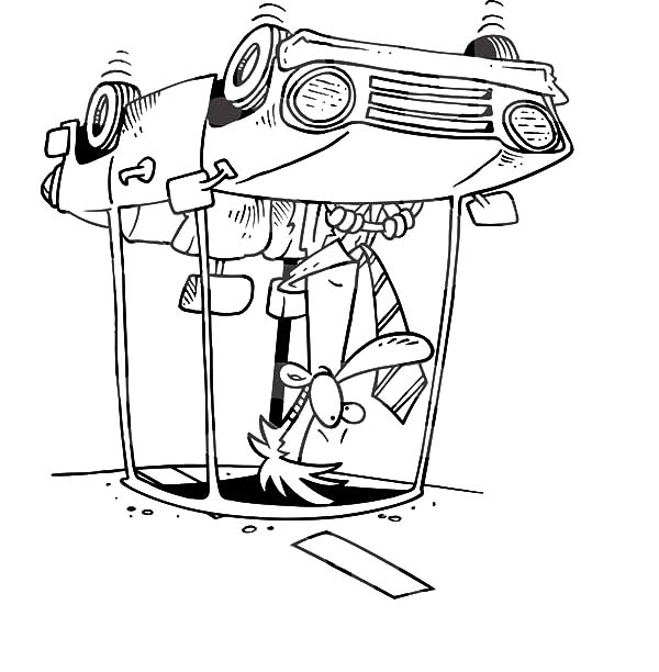 600x612 Man Had Accident When Driving Car Coloring Pages Best Place To Color
