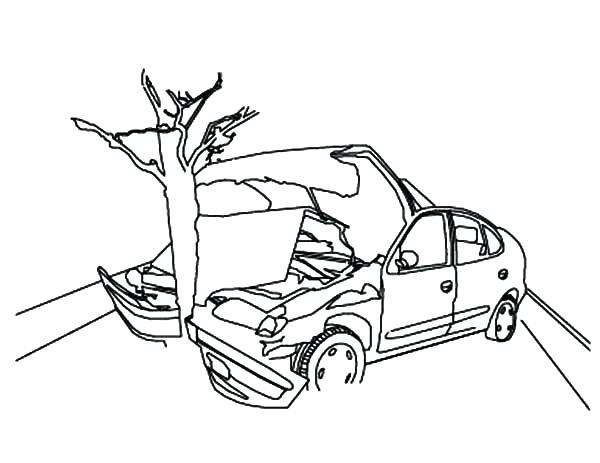 600x463 Car Crash Coloring Pages 756