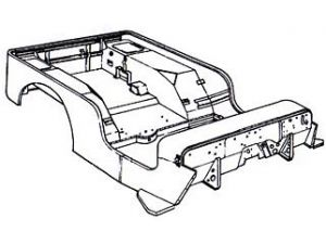 300x225 Willys Jeep Body Drawing