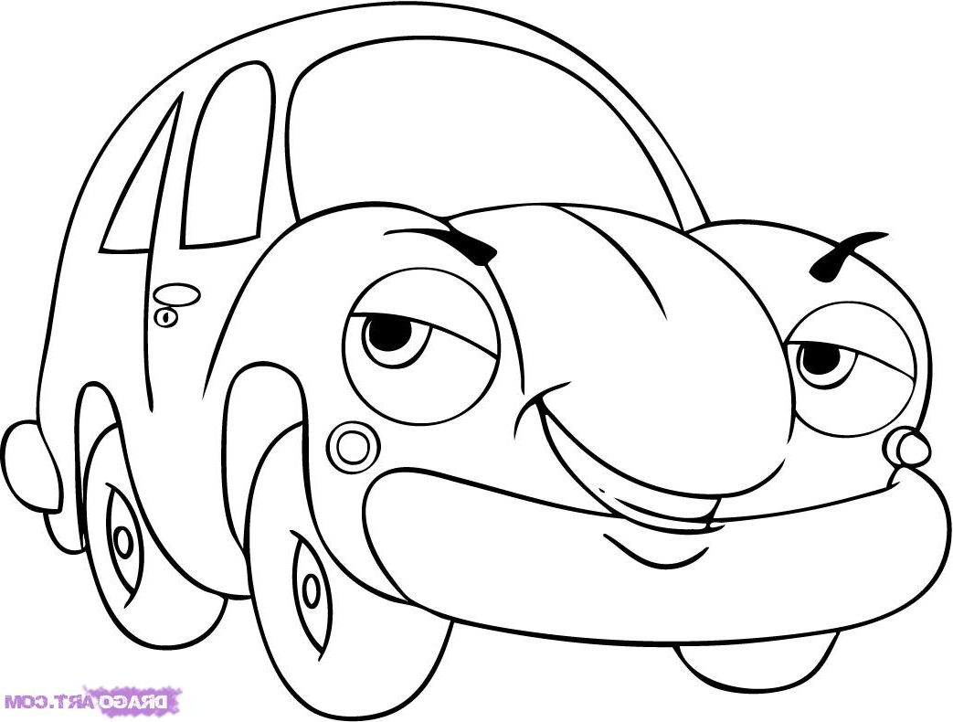 1043x790 How To Draw A Cartoon Car Step By Step