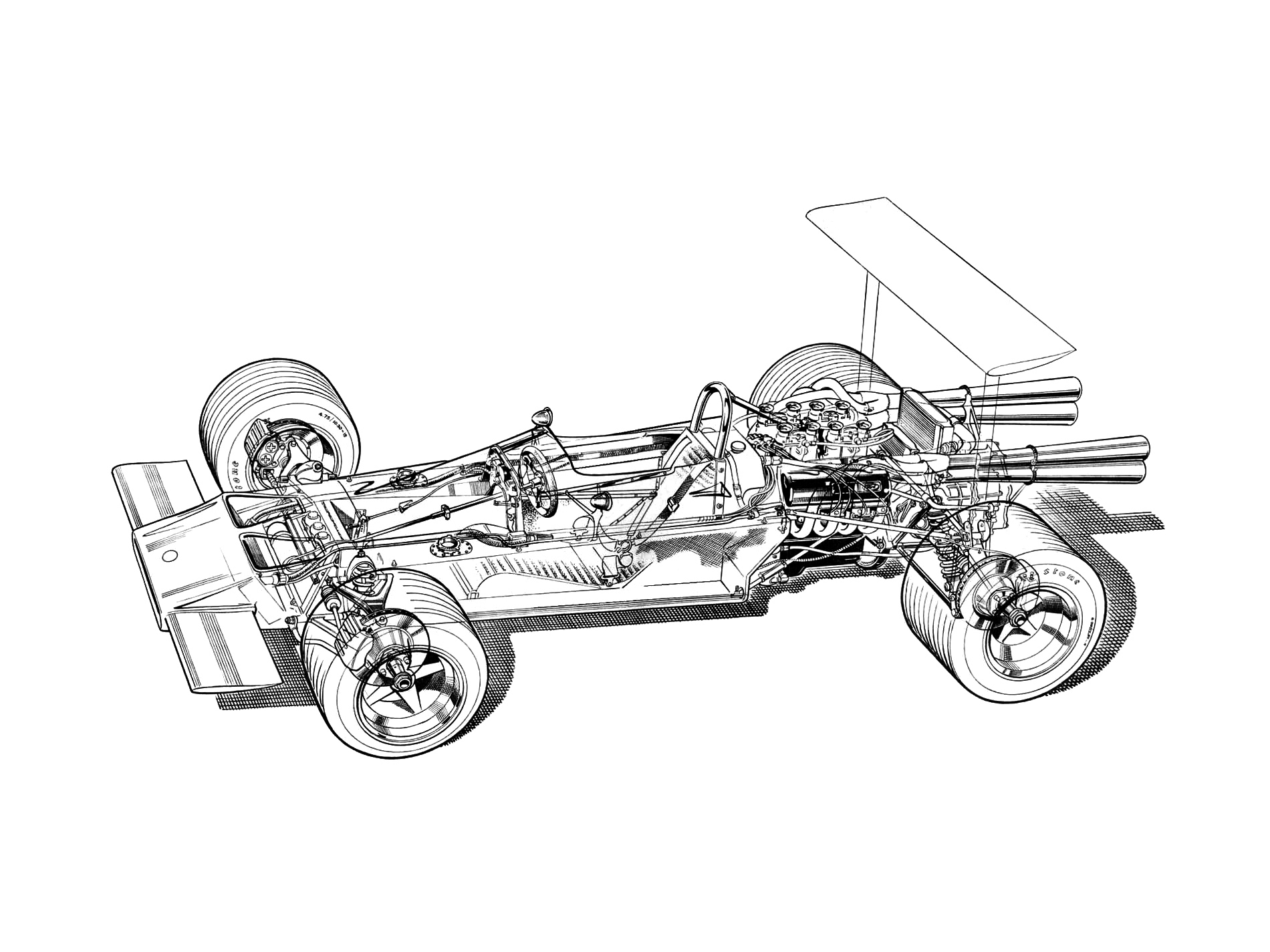 Lotus Car Coloring Pages : Car racing drawing at getdrawings free for personal use car