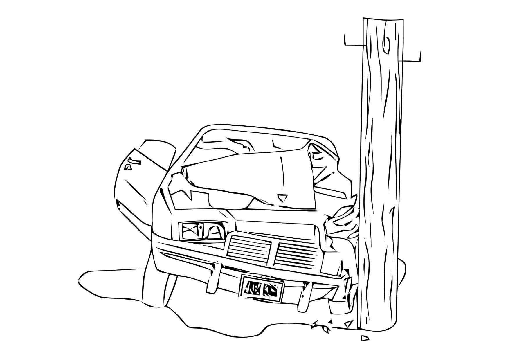 1750x1240 Coloring Page Car Crash