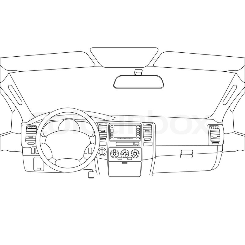 car dashboard drawing at getdrawings com