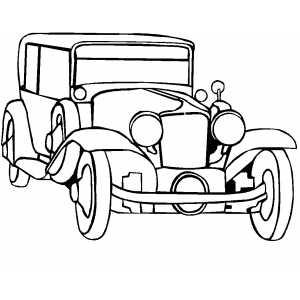 300x300 Classic Noble Car Coloring Pages Vintage Trucks