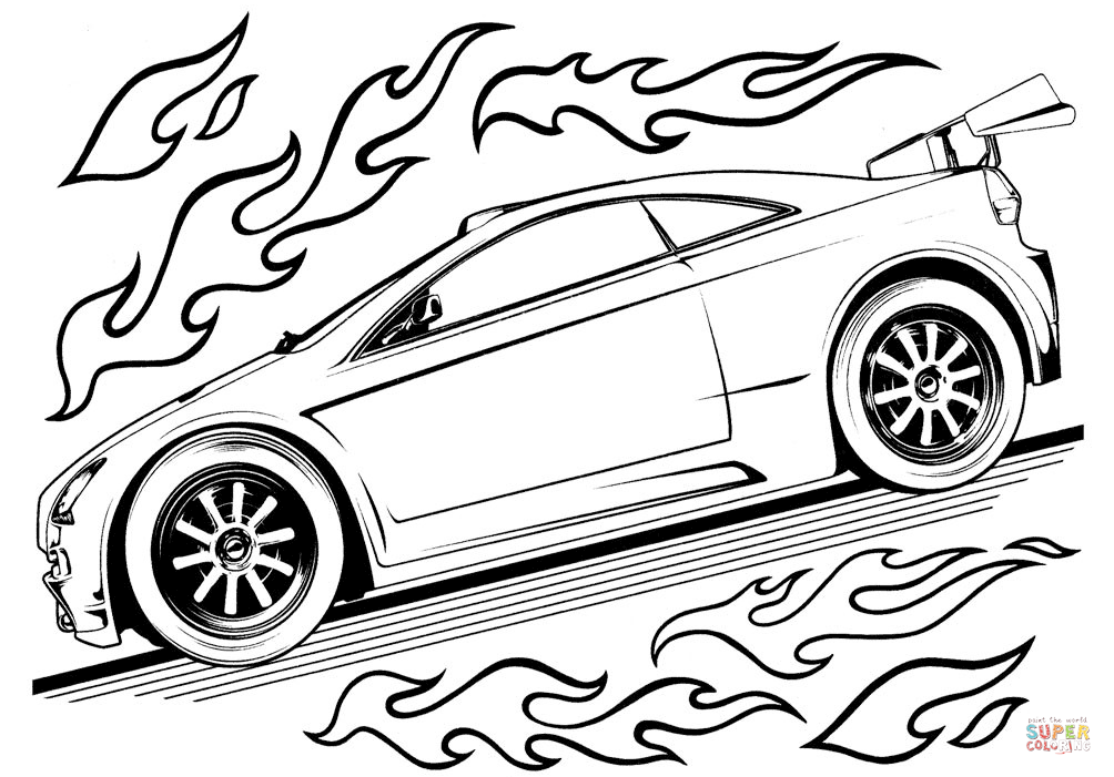 1004x701 Hot Wheels Car Coloring Page Free Printable Coloring Pages