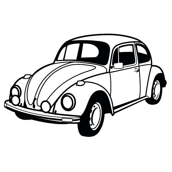 600x600 Classic Beetle Car Coloring Pages Best Place To Color
