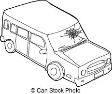 232x194 Outline Of Car In Water. Hand Drawn Outline Cartoon Of Car