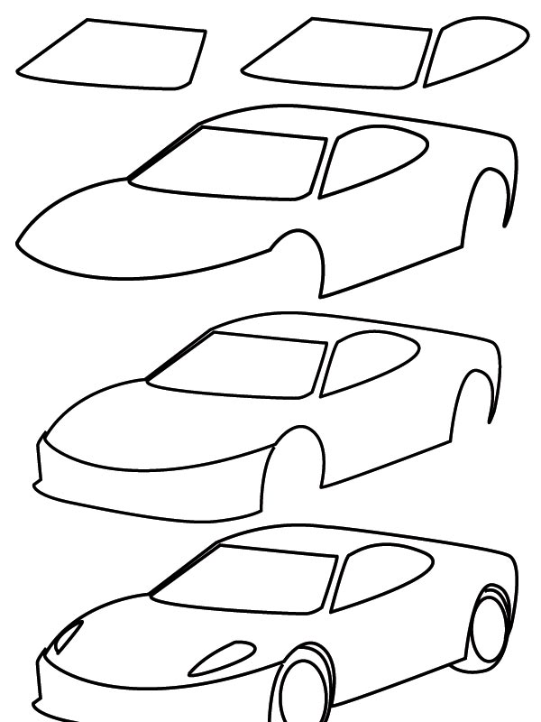 600x800 Drawing Car