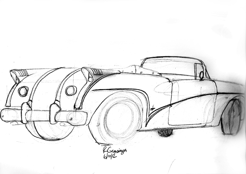 842x597 Ron Grosinger's Occasional Car Drawings Drawing Cars