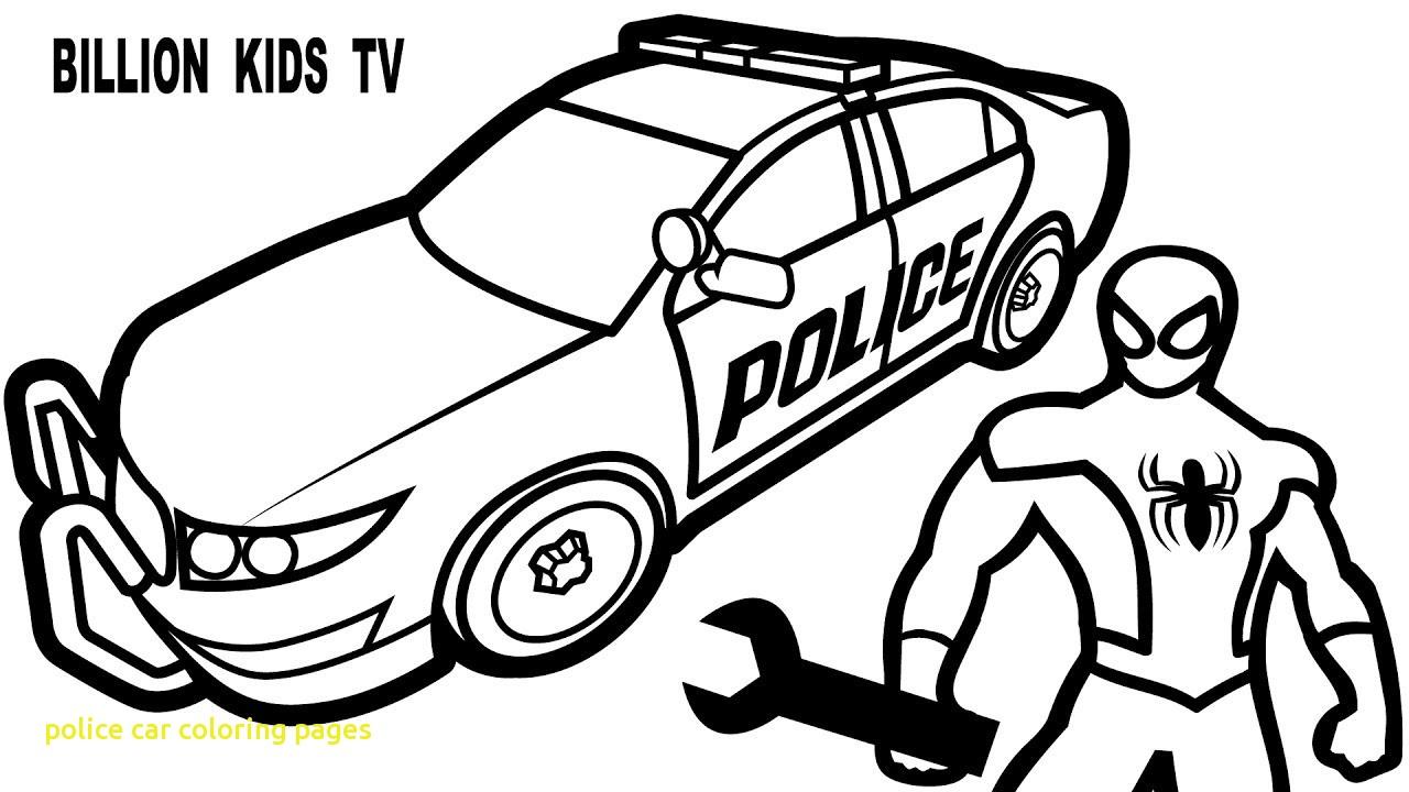 1280x720 Cop Car Coloring Pages