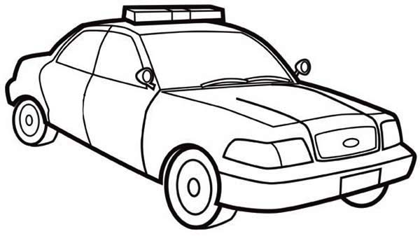 600x337 Police Car Coloring Pages To Print How Draw Page