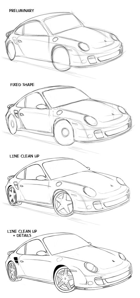 477x1014 How To Draw A Car Sharenoesis