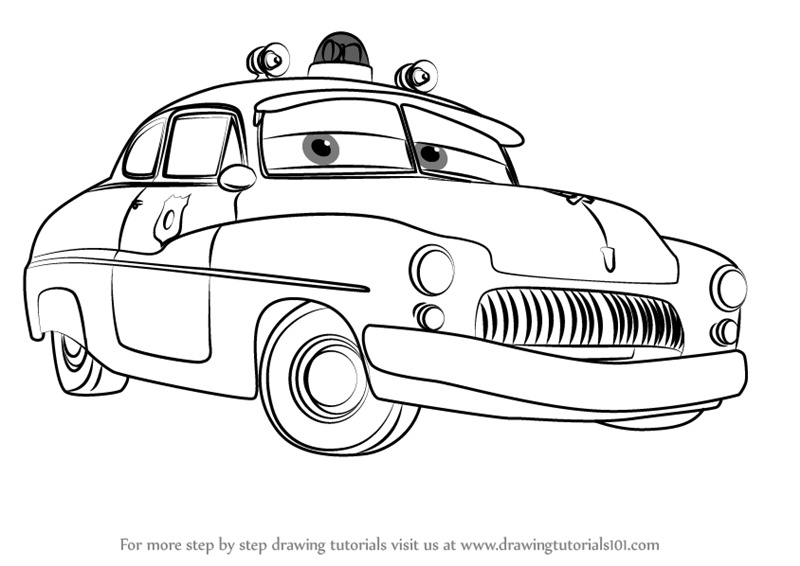 800x566 Learn How To Draw Sheriff From Cars 3 (Cars 3) Step By Step