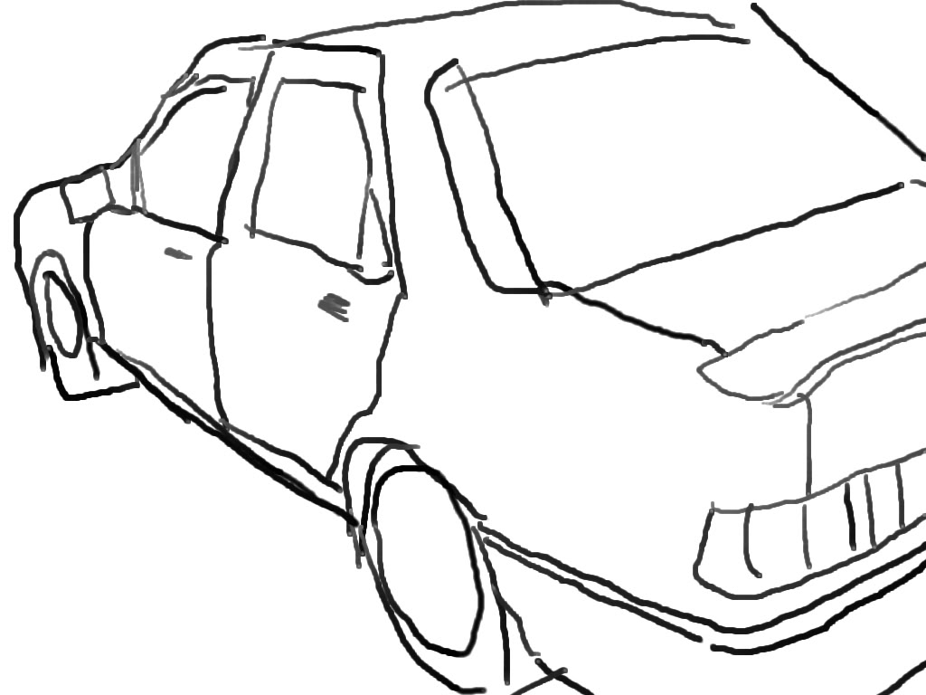 1024x768 Simple Drawing Of A Car Drawing A Simple Car