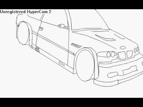 480x360 How To Draw A Car (Bmw M3 Gtr) On Ms Paint Part 1