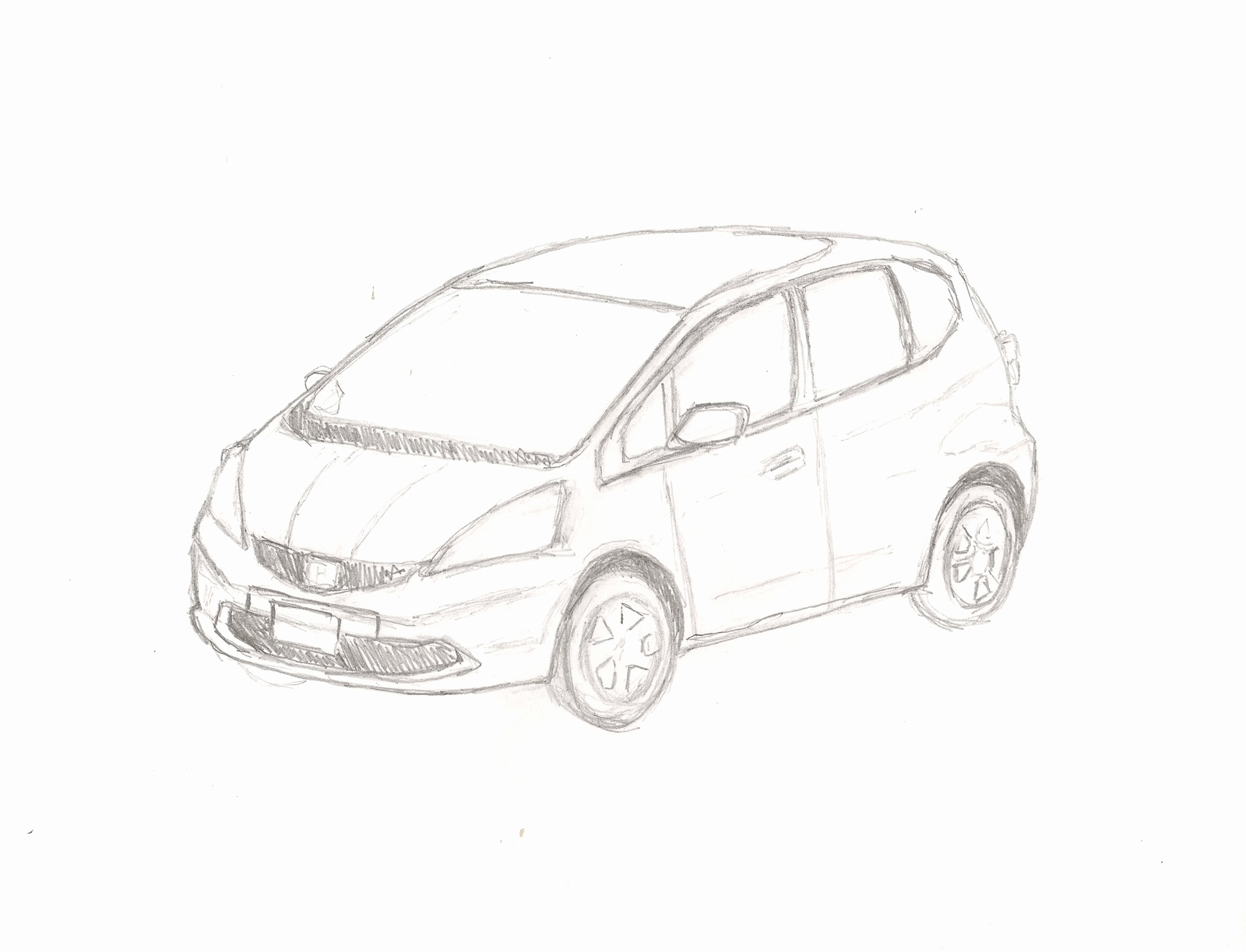 Car Drawing Side