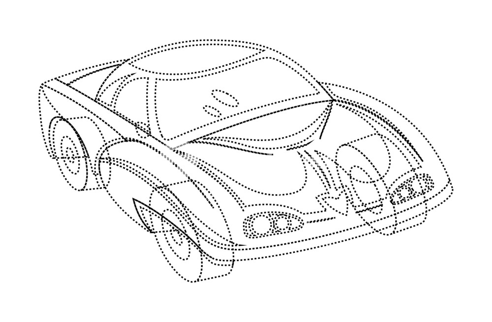 1000x655 Sketching Of Modern Sports Car Royalty Free Stock Image
