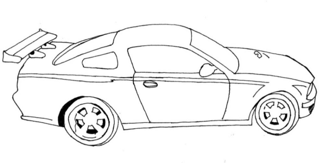 Car drawing template at free for for Blank race car templates