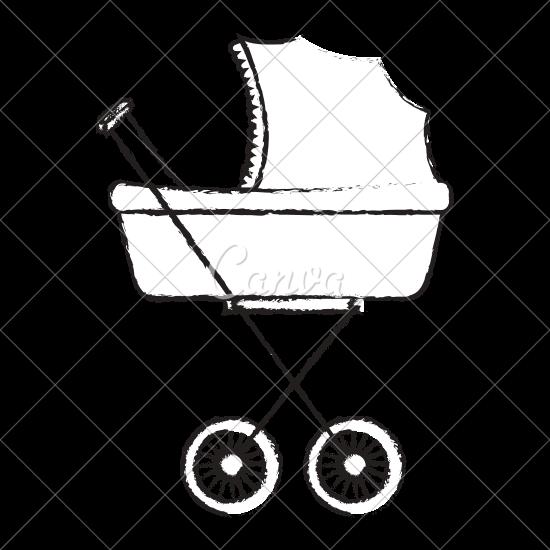 550x550 Baby Car Small Vector Icon Illustration