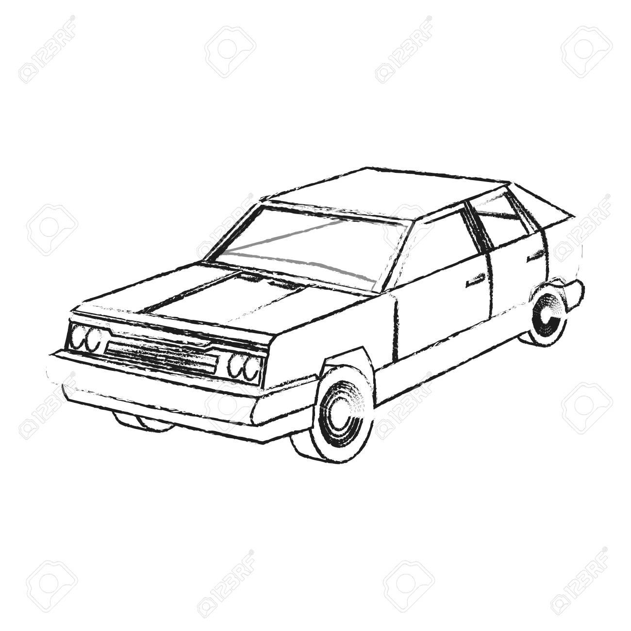 1300x1300 Vintage 90s Style Car Icon Image Vector Illustration Design