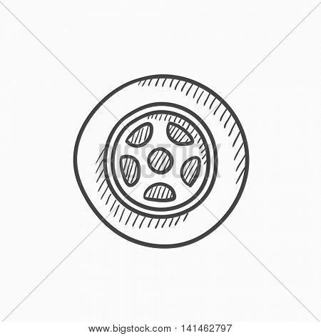 450x470 Car Wheel Vector Sketch Icon Vector Amp Photo Bigstock