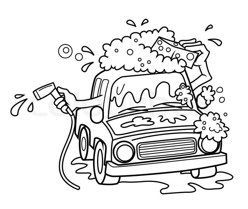 800x676 Car Wash Stock Vector Colourbox