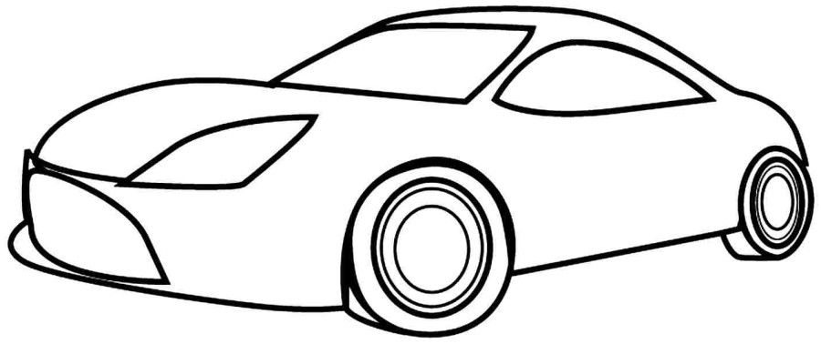 900x378 Simple Car Coloring Pages