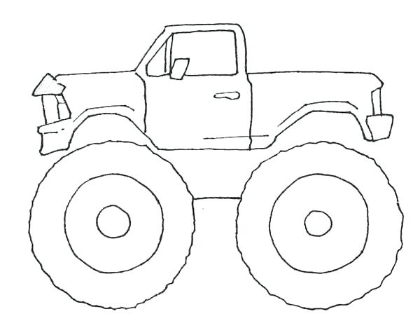 600x468 Easy Monster Truck Coloring Pages And How To Draw Monster Trucks