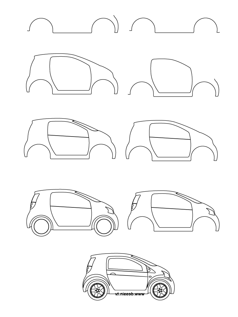Car Easy Drawing_