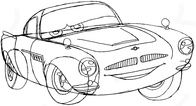 800x436 How To Draw Finn Mc Missile From Pixar's Cars With Easy Step By