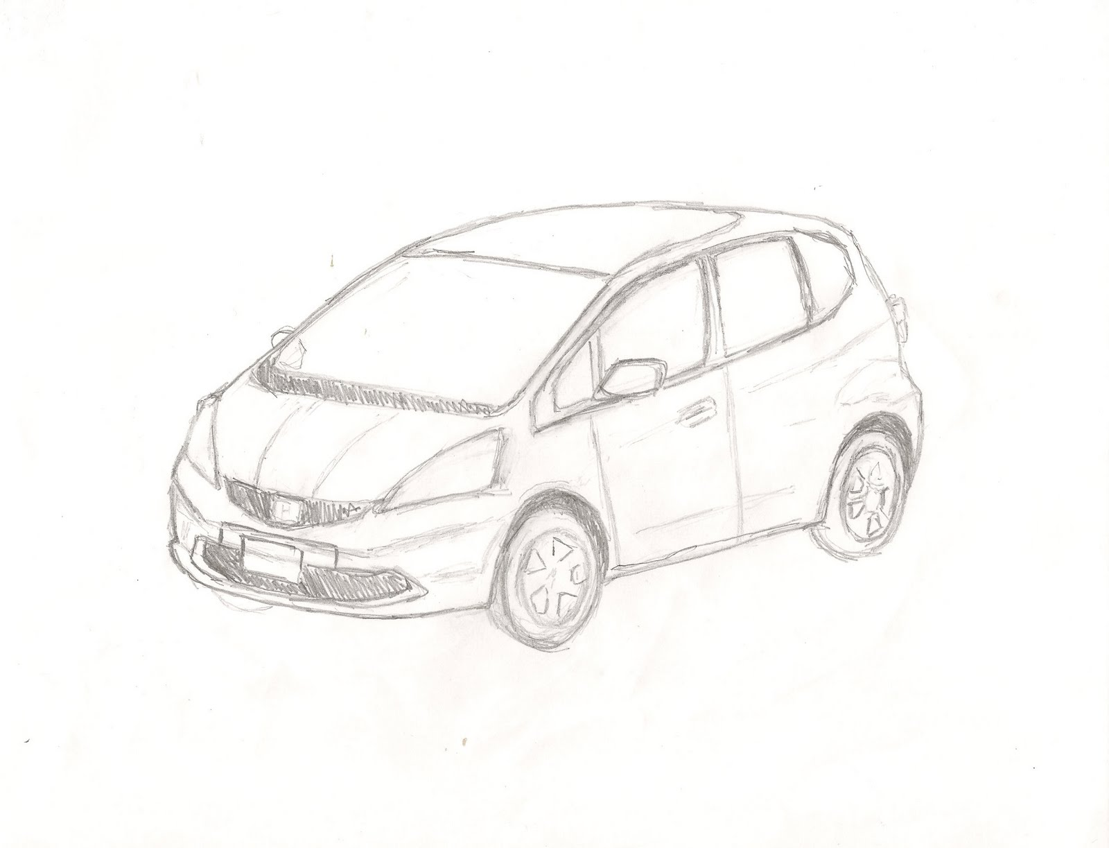 1600x1223 Pictures Car Easy Pencil Drawings,