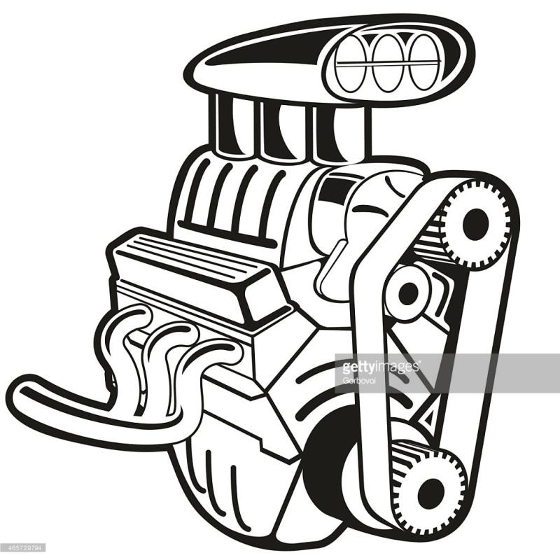 Car Engine Drawing At Getdrawings Com