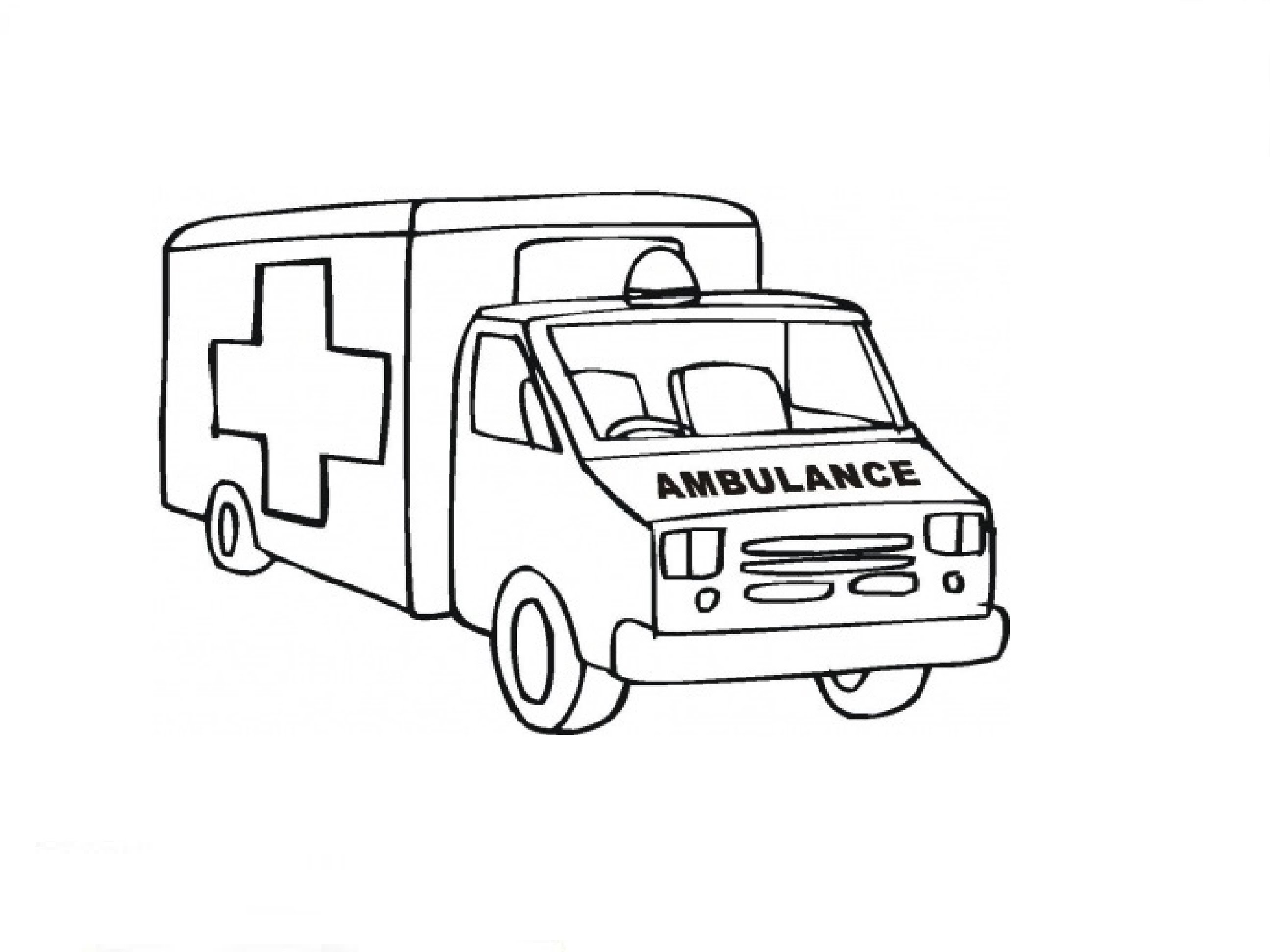 2592x1944 How To Draw An Ambulance Car