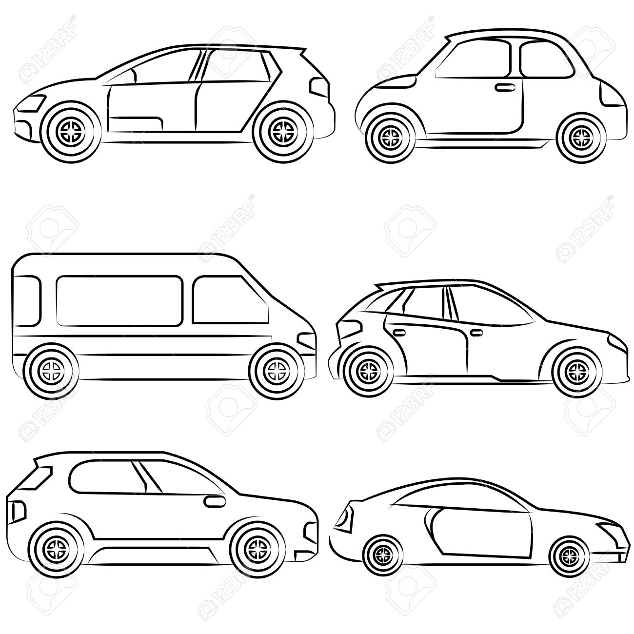 1300x1300 Car, Drawing Line Royalty Free Cliparts, Vectors, And Stock