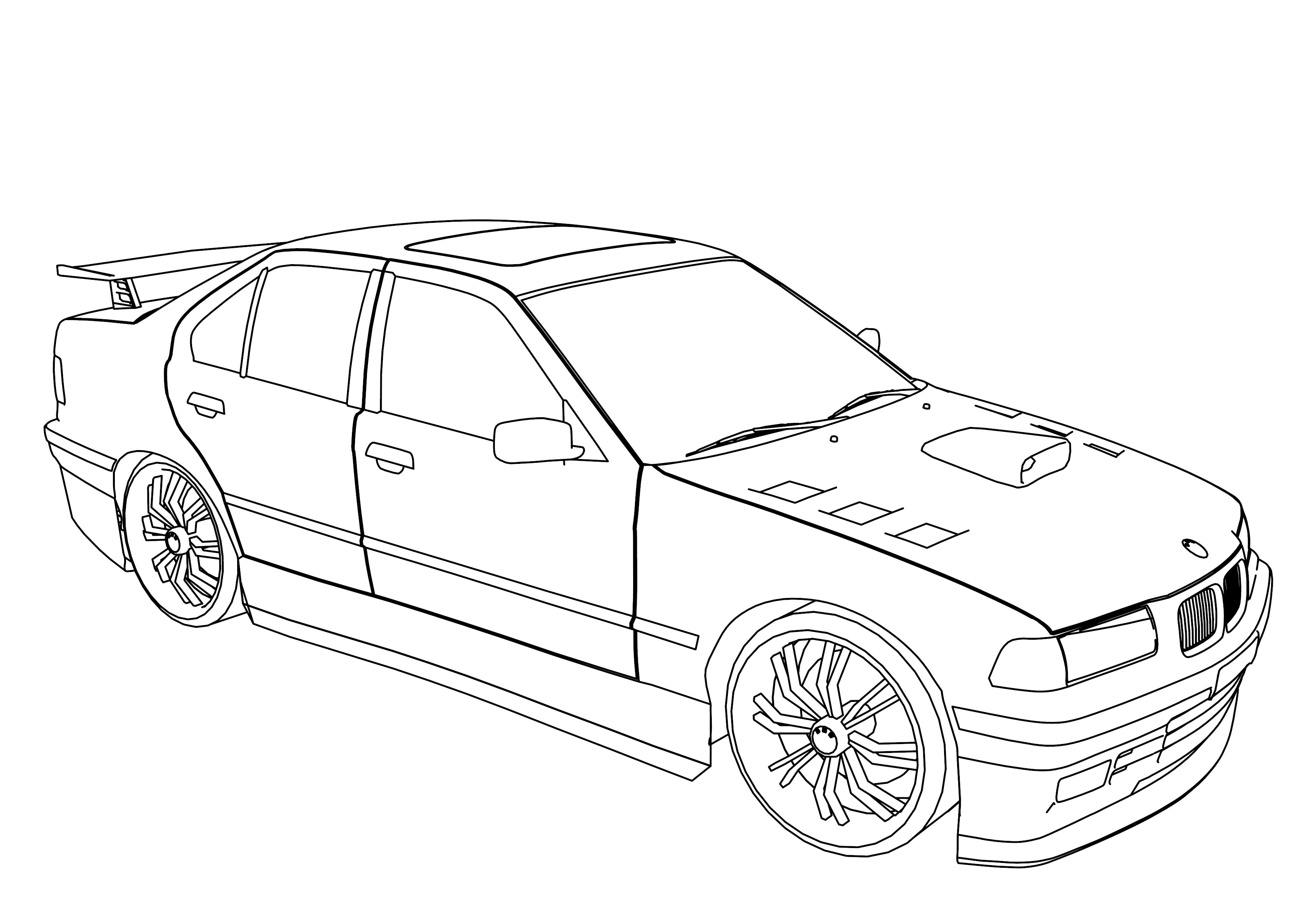 Auto Ausmalbilder Bmw : Car Images Drawing At Getdrawings Com Free For Personal Use Car