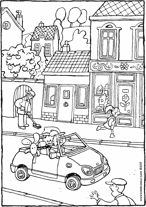 562x800 Car Colouring Pages