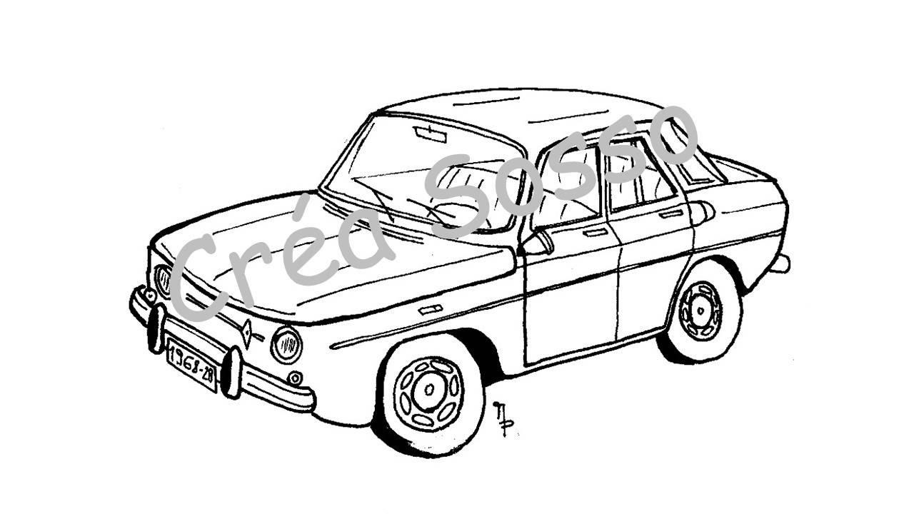 1280x720 Old Renault Car Key Drawing 8