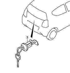 288x300 Genuine Suzuki Alto Rear Boot Tailgate Lock Barrel Cylinder 2 Keys