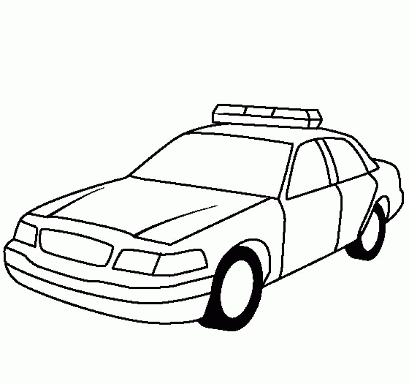 800x750 Police Car Coloring Pages