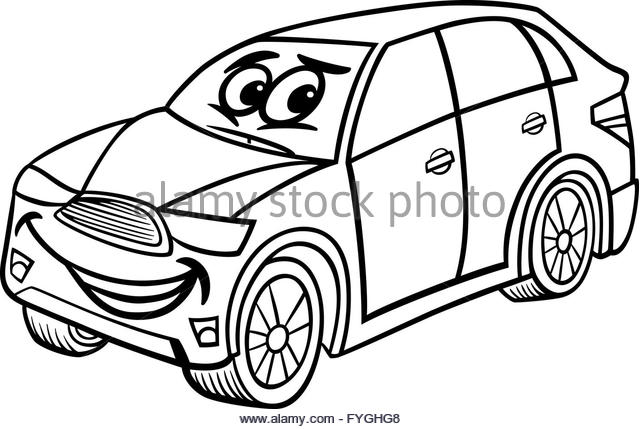 640x429 Cartoon Car Black And White Stock Photos Amp Images