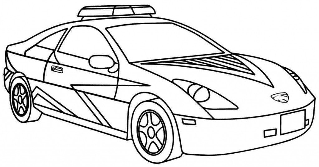 1024x538 Police Car Coloring Pages Printable For Tiny Draw Image