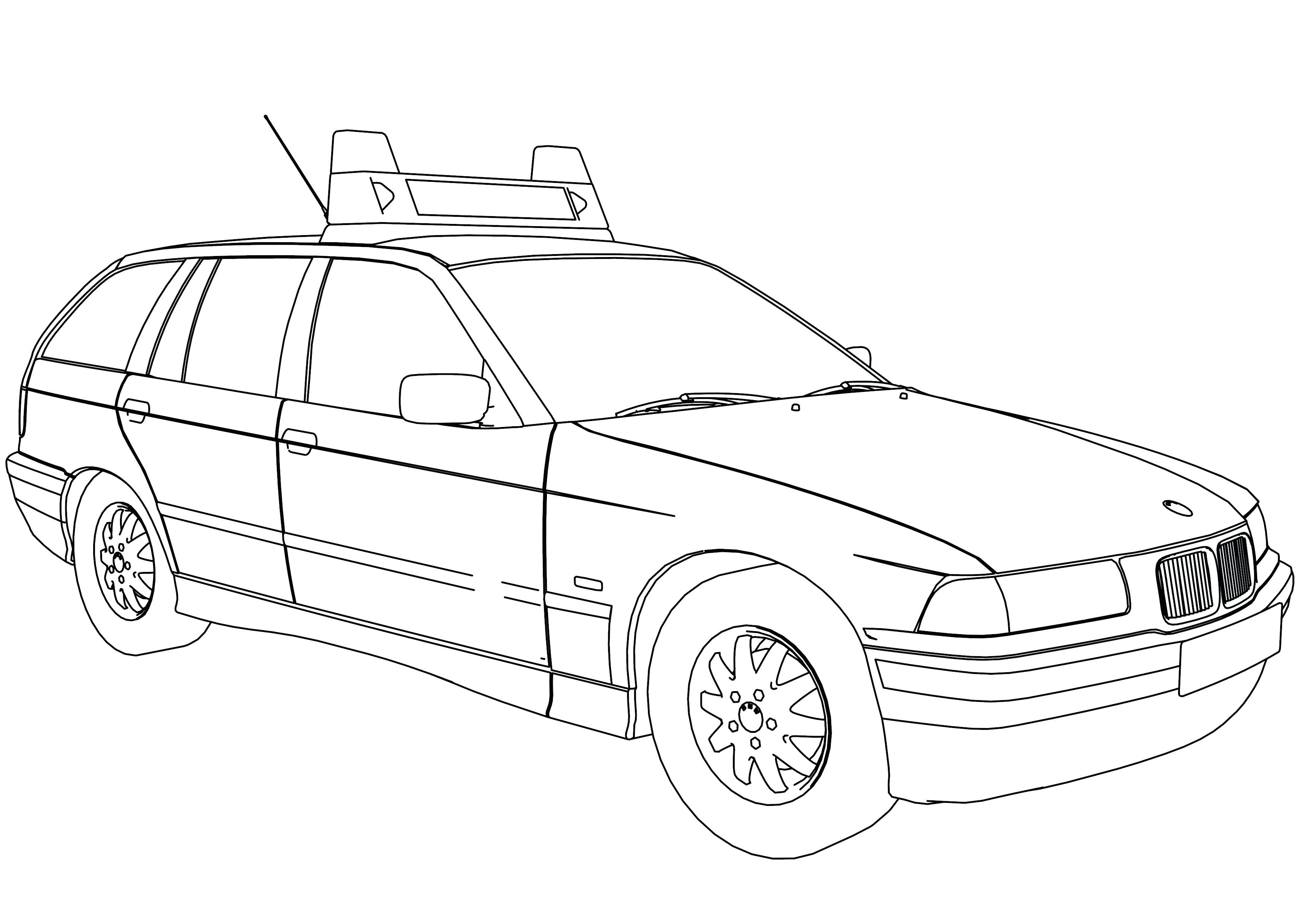 3508x2480 Police Car Coloring Pages Printable Unique Police Vehicle Coloring