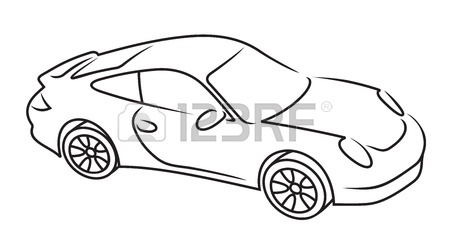 450x244 Car Line Art Royalty Free Cliparts, Vectors, And Stock