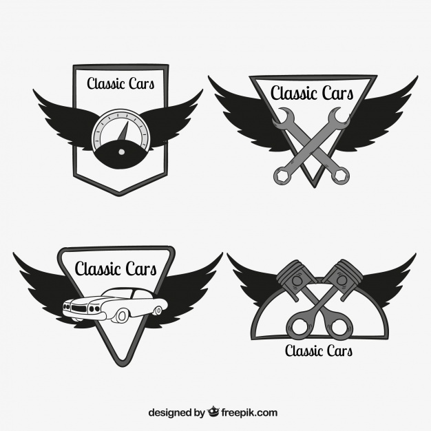 626x626 Collection Of Car Logos With Wings Vector Free Download