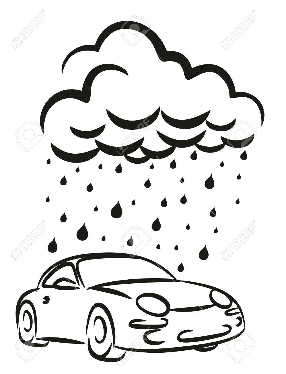 997x1300 A Logo Car Wash With Rainy Cloud. Royalty Free Cliparts, Vectors