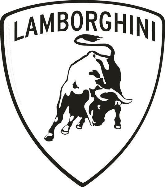 533x604 Lamborghini Car Logo Emblem Garage Dealership Sticker Vinyl