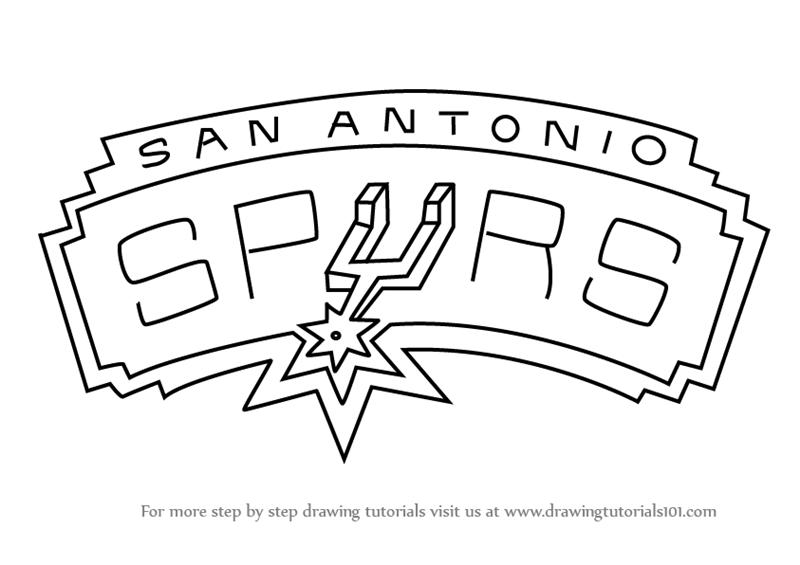 800x565 Learn How To Draw San Antonio Spurs Logo (Nba) Step By Step
