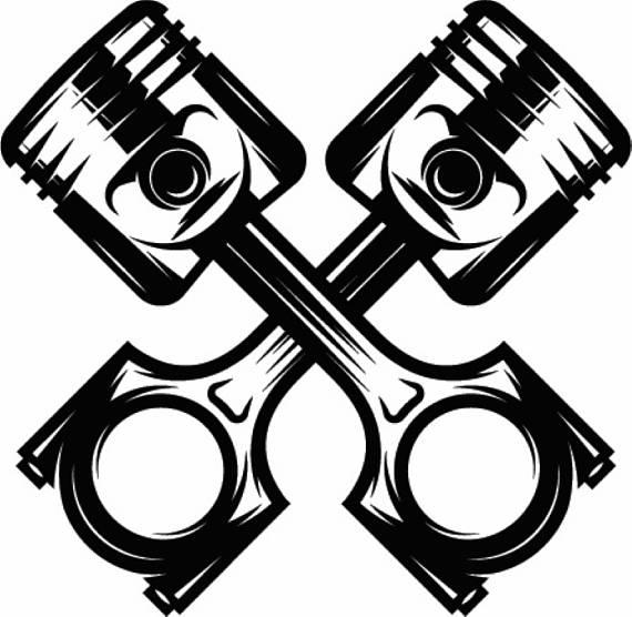 570x556 Mechanic Logo 12 Piston Crossed Cylinder Engine Auto Car Part