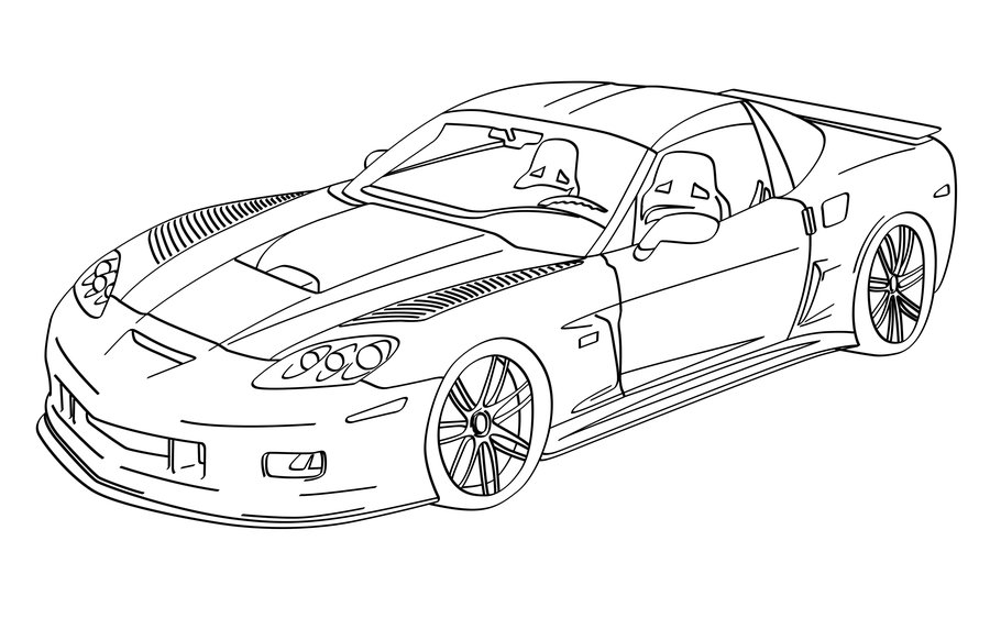 900x582 Print A Drawing Of 2016 Corvette Corvette C6rs Lineart By
