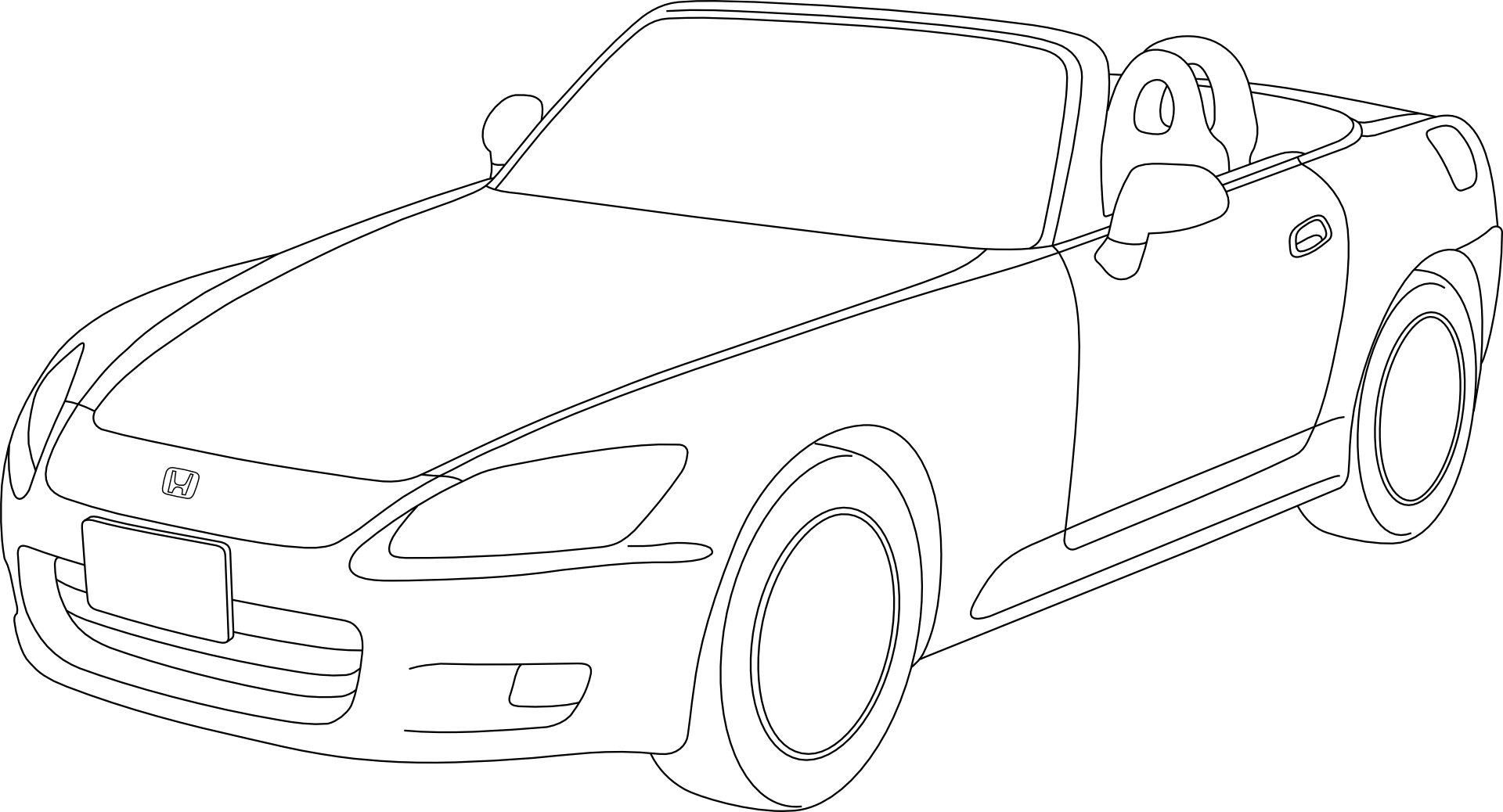 Car Outline Drawing At Getdrawings Com Free For Personal Use Car